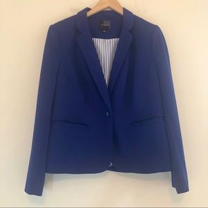 The Limited Knit Blazer Suit Jacket in Blue